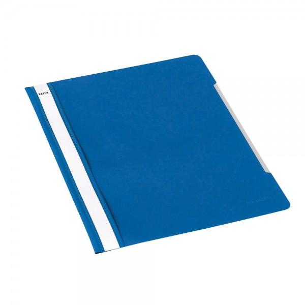 Leitz Schnellhefter 4191 blau Einsteckstreifen DIN-A4 (25er Pack)