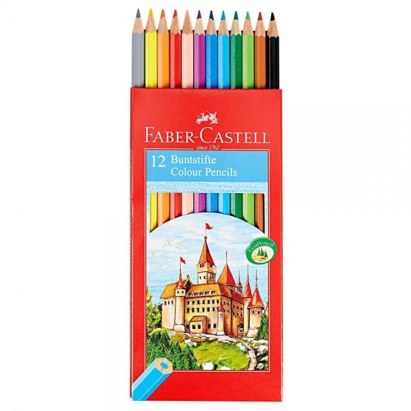 Faber-Castell Buntstifte farbsortiert (12er Set)