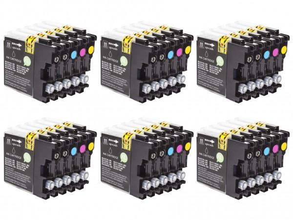 Alternativ zu Brother LC-980 Tinten Multipack CMYK (30er Set)