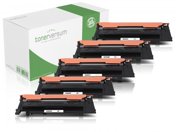 Alternativ zu Samsung CLT-K404S CLT-C404S CLT-M404S CLT-Y404S Toner Multipack CMYK (5er Set)