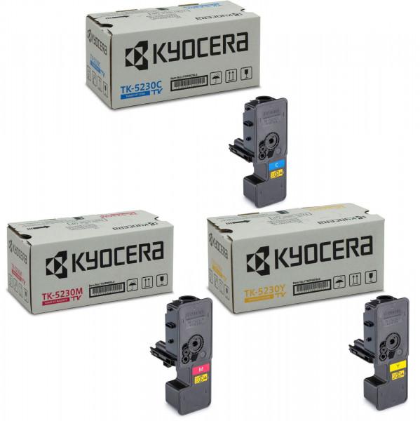 Kyocera TK-5230 Toner Multipack CMY (3er Set)
