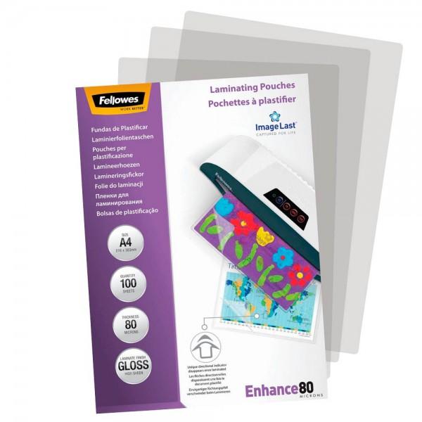Fellowes Laminierfolientaschen DIN A4 glänzend (100er Pack)