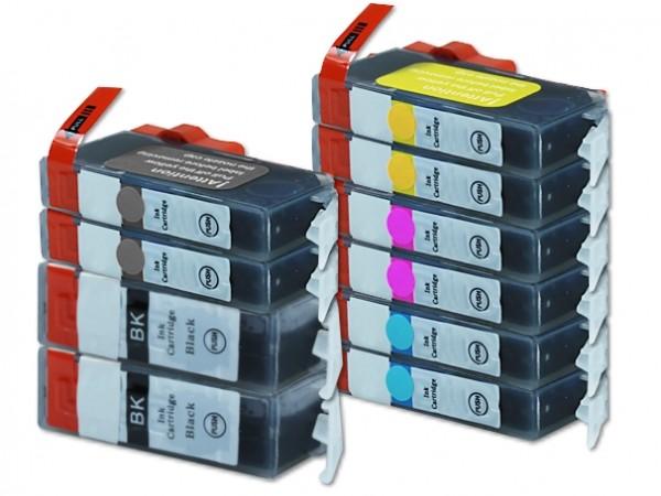 Alternativ zu Canon PGI-525 / CLI-526 Tinten Multipack CMYK (10er Set)
