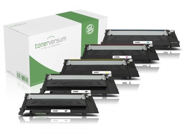 Alternativ zu Samsung CLT-K406S CLT-C406S CLT-M406S CLT-Y406S Toner Multipack CMYK (5er Set)