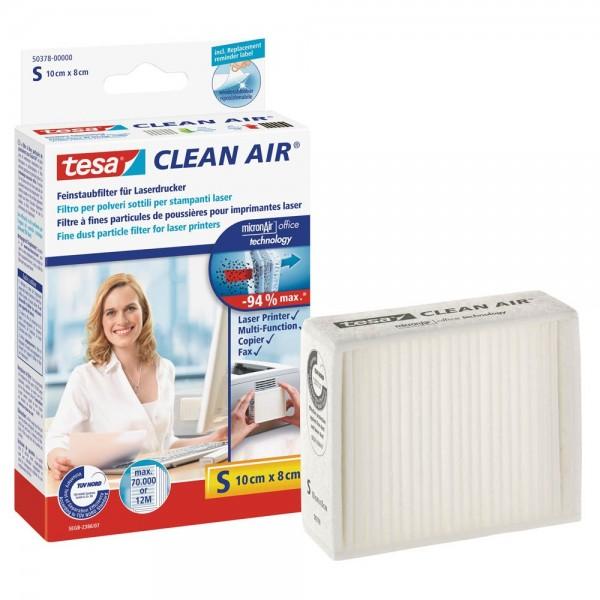 Tesa Clean Air 50378 Feinstaubfilter für Laserdrucker, Kopierer und Fax (Größe S)