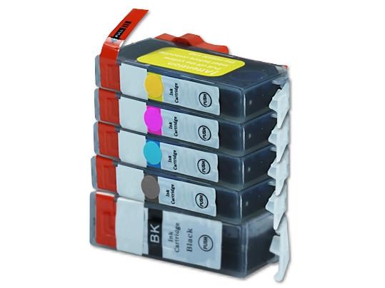 Alternativ zu Canon PGI-525 / CLI-526 Tinten Multipack CMYK (5er Set)