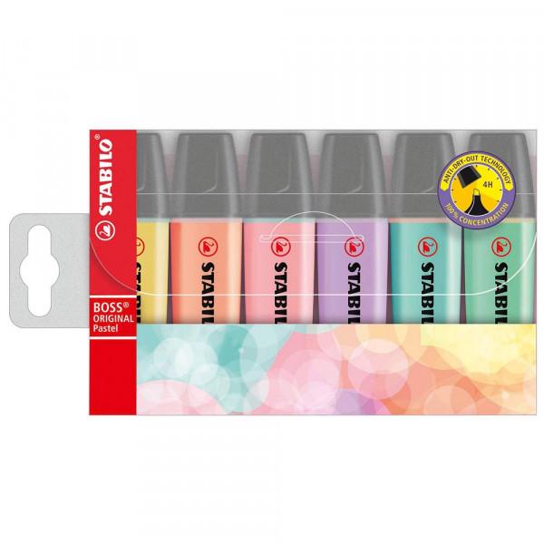 Stabilo Boss Textmarker-Set Pastel farbsortiert (6er Pack)