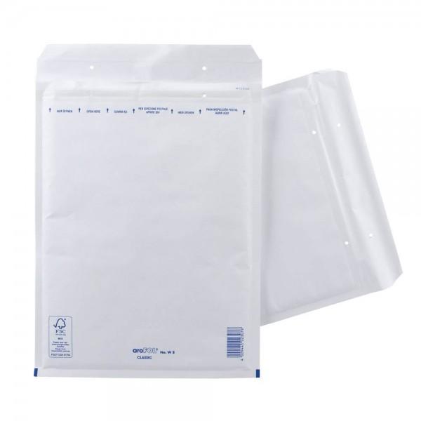 aroFol Classic Luftpolsterversandtasche blickdicht, Kraftpapier DIN-C4 weiss (100er Pack)