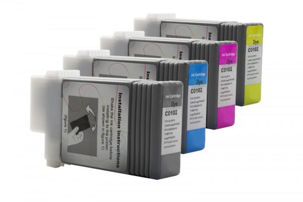 Alternativ zu Canon PFI-102CMYK Tinten Multipack (4er Set)