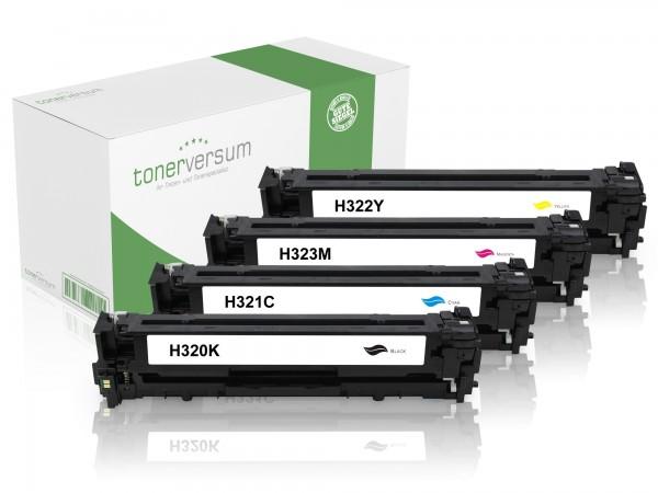 Alternativ zu HP CE320A CE321A CE322A CE323A / 128A Toner CMYK (4er Set)
