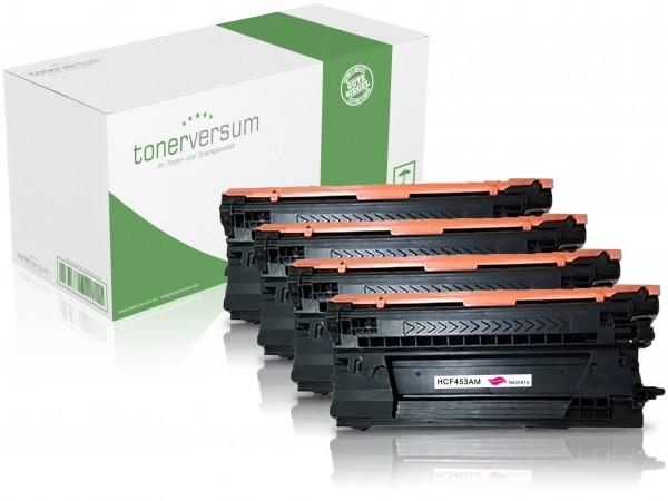 Alternativ zu HP CF450A CF451A CF452A CF453A / 655A Toner Multipack CMYK (4er Set)
