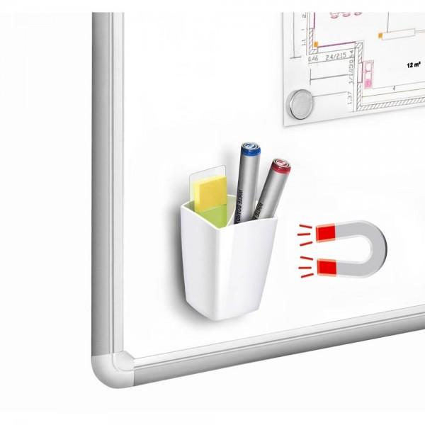 Cep Stiftehalter magnetische Rückseite zwei Fächer weiß