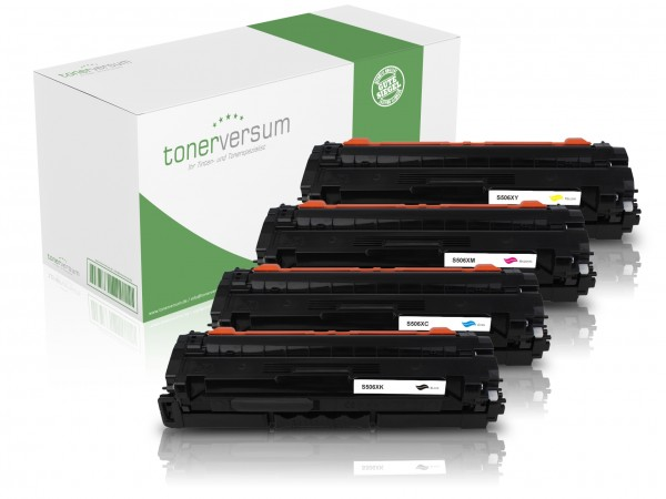 Alternativ zu Samsung CLT-K506L CLT-C506L CLT-M506L CLT-Y506L Toner Multipack CMYK (4er Set)