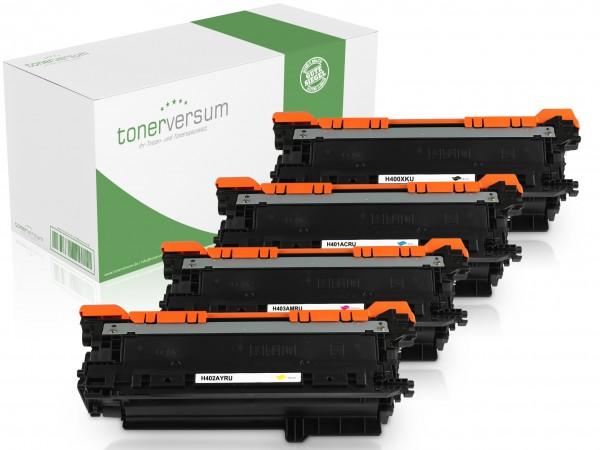 Alternativ zu HP CE400X CE401A CE402A CE403A 507X / 507A Toner Mulitpack CMYK (4er Set)
