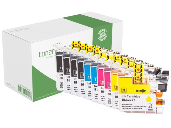 Alternativ zu Brother LC-223 XL Tinte Multipack CMYK (10er Set)