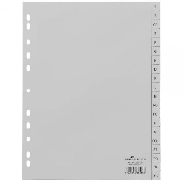 Durable Ordnerregister DIN A4 Vollformat blanko 20-teilig (A-Z)