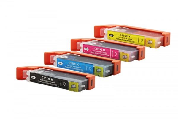 Alternativ zu Canon CLI-551 XL / 6509B009 Tinten Multipack CMYK (4er Set)