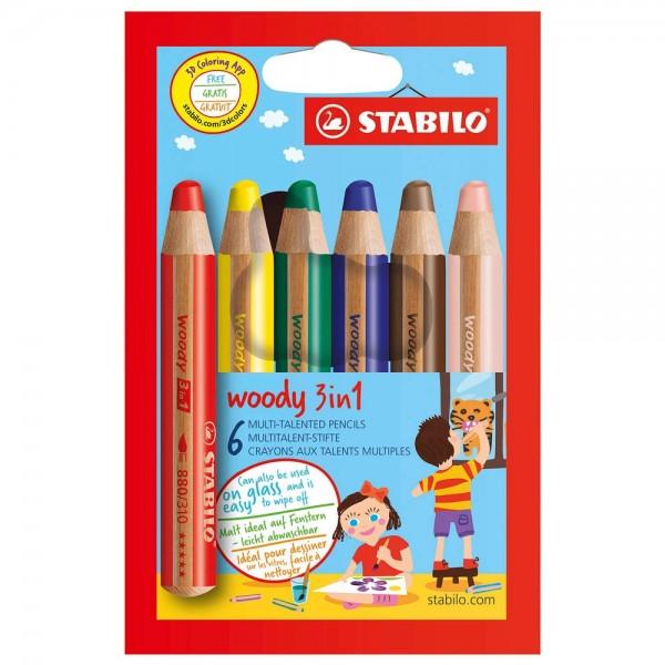 Stabilo Jumbo Buntstifte Woody (6er Set)
