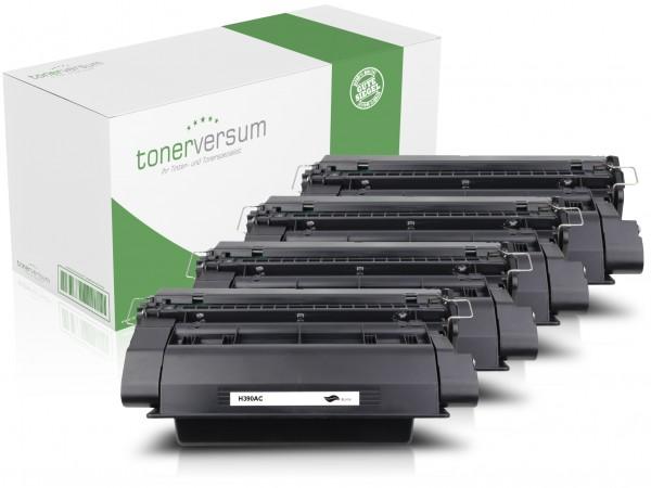 Alternativ zu HP CE390A / 90A Toner Black (4er Pack)