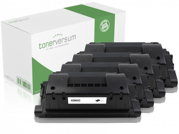 Alternativ zu HP CE390X / 90X Toner Black (4er Pack)