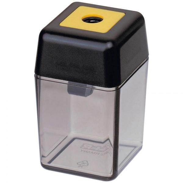 M + R Anspitzer Schwarz / transparent mit Auffangbehälter