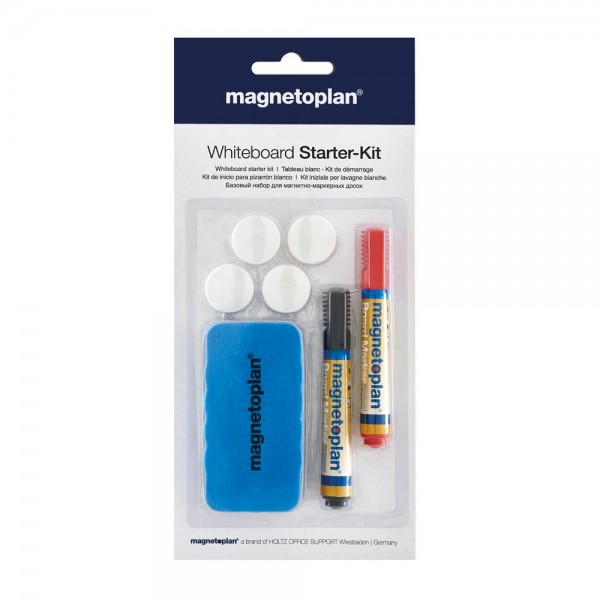 magnetoplan Whiteboard Starter-Kit (4x Magnet, 2x Marker, 1x Tafellöscher)